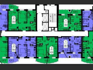 Продажа квартир: 2-комнатная квартира, Красноярск, Ярыгинская наб., 17, фото 1