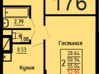 <strong>3 742 720</strong> <span class='icon-rub'><b>руб.</b></span><br />   2к-квартира, 55&nbsp;м&sup2; 1&nbsp;этаж