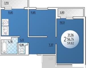 Продажа квартир: 2-комнатная квартира, Краснодар, Черкасская ул., 68, фото 1
