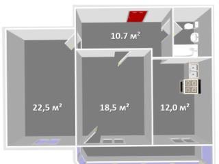 Продажа квартир: 2-комнатная квартира, Пермь, Светлогорская ул., 17, фото 1