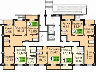 Продажа квартир: 3-комнатная квартира в новостройке, Красноярский край, Сосновоборск, Мирный пер., 1, фото 1