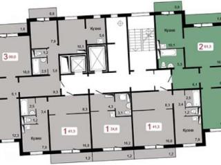 Продажа квартир: 2-комнатная квартира, Красноярск, ул. Академика Киренского, 45, фото 1