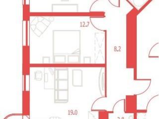 Продажа квартир: 3-комнатная квартира в новостройке, Ленинградская область, Всеволожский р-н, п. Бугры, тер. ЖК