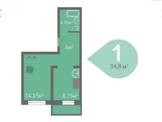 Продажа квартир: 1-комнатная квартира, Краснодарский край, Динской р-н, п. Южный, Северная ул., фото 1