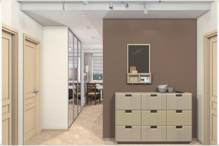 Дизайн двухкомнатной квартиры п44т фото